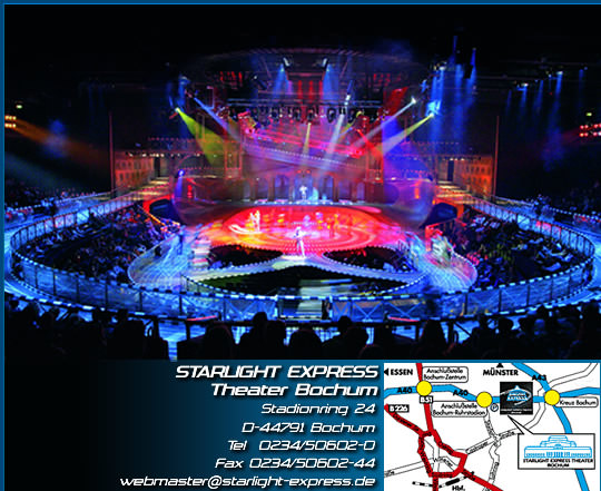 starlight express theater. Black Bedroom Furniture Sets. Home Design Ideas